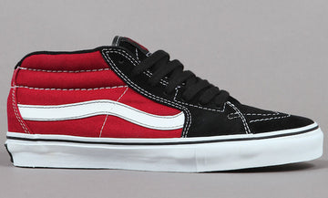 Vans Sk8-Mid Pro Grosso Skate Shoe in Red and Black