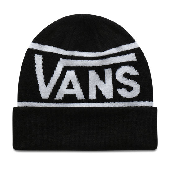 Vans Drop V Stripe Cuff Beanie in Black and White