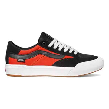 Vans Berle Pro Skate Shoe in Black and Orange