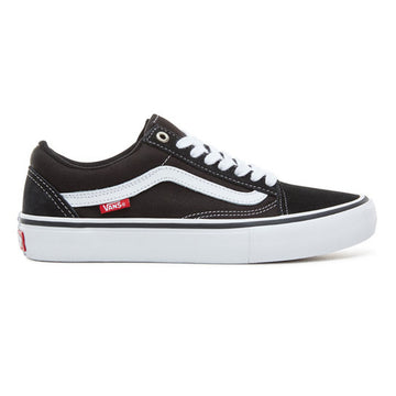 Vans Old Skool Pro Shoe in Black and White