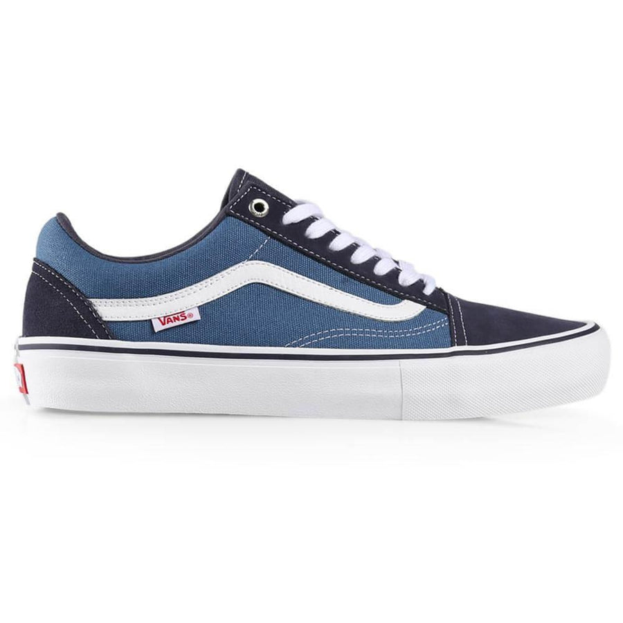 Vans Old Skool Pro Shoe in Navy Navy and White