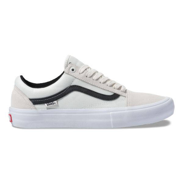 Vans Old Skool Pro Skate Shoe in Marshmallow and Ballistic