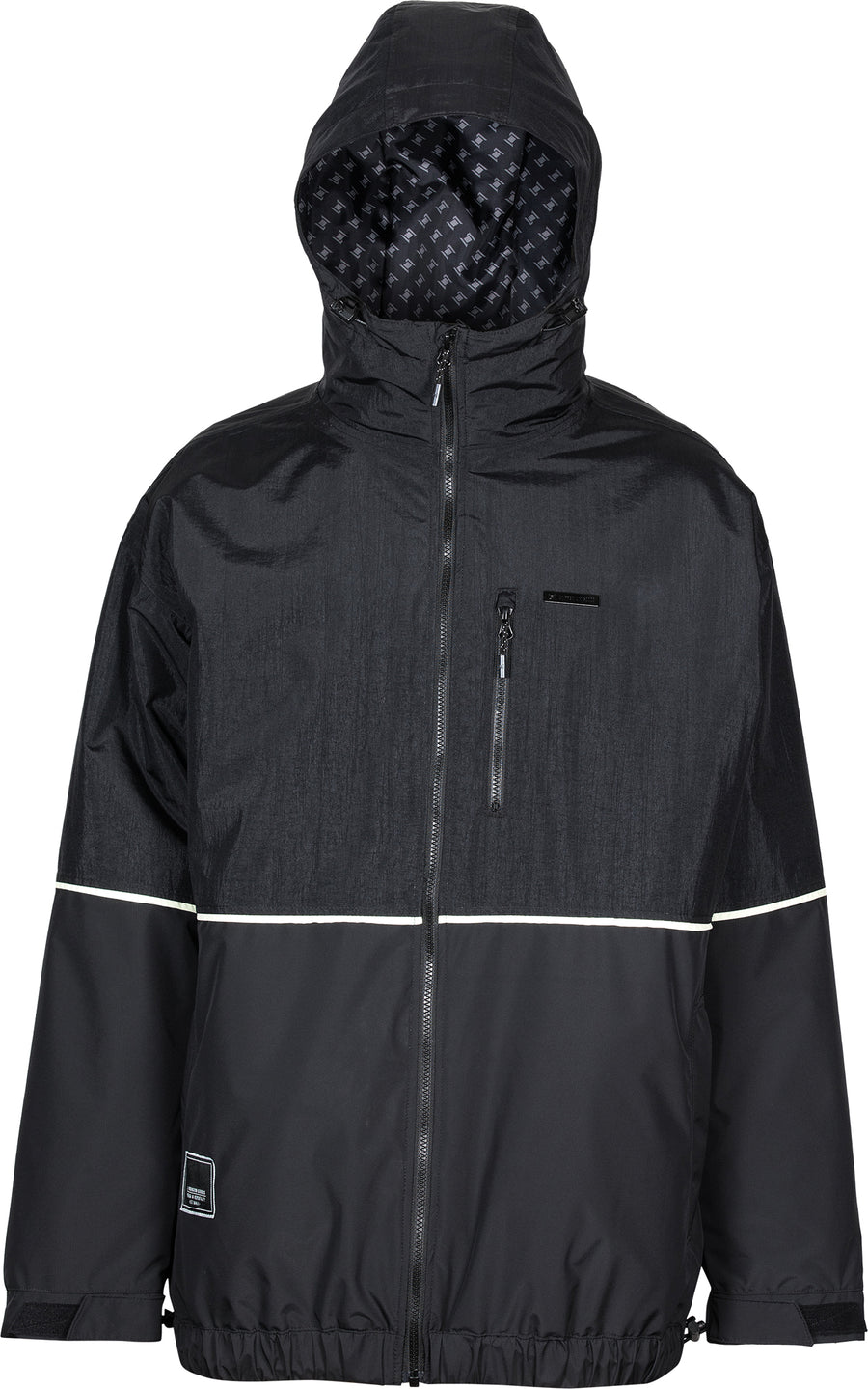 2021 L1 Ventura Snow  Jacket in Black and Soft Lime