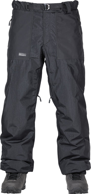 2021 L1 Ventura Snow Pant in Black and Soft Lime