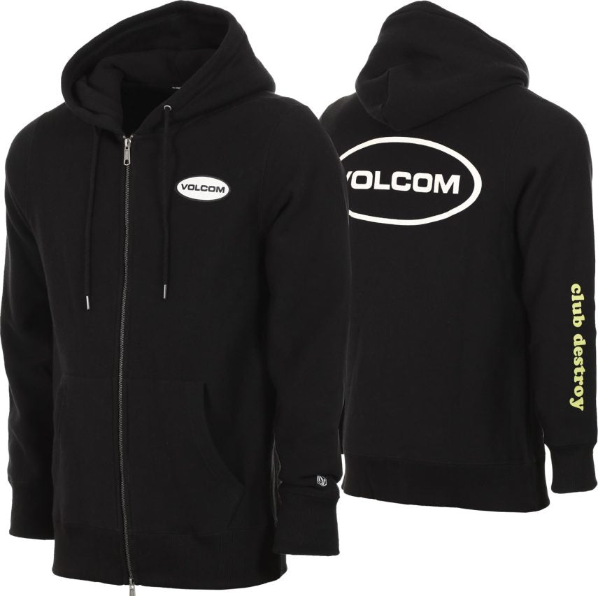 Volcom Comply Zip Up Sweatshirt in Black