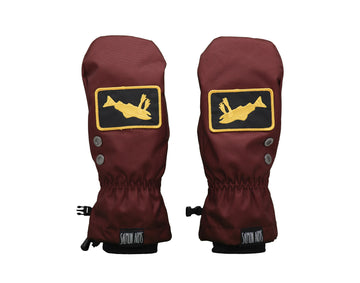 2021 Salmon Arms Logo Snow Mitts in Maroon