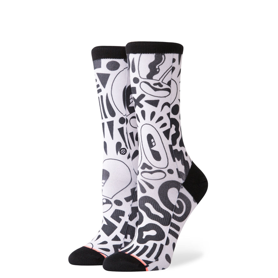 Stance Lookly Lou Womens Sock in White M