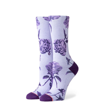 Stance Rebel Rose Crew Sock in Purple
