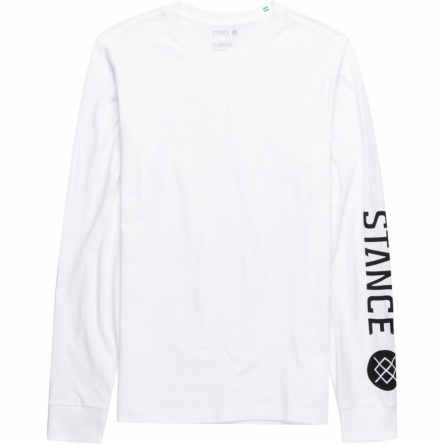 Stance Basis L/S T Shirt in White