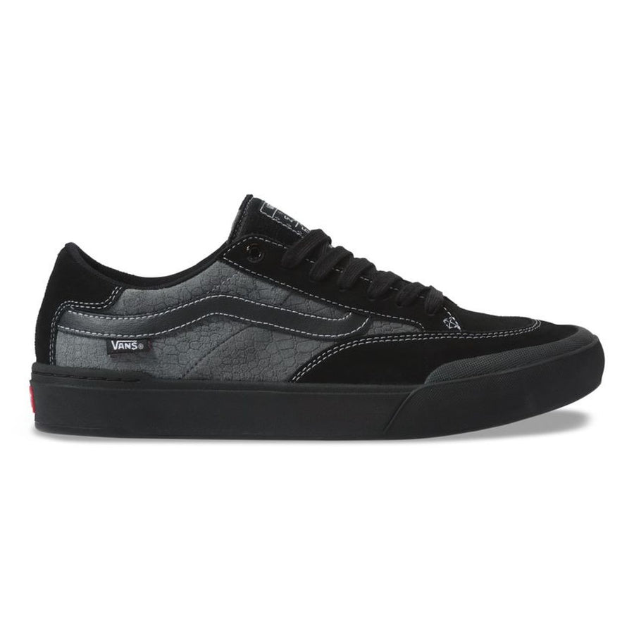 Vans Berle Pro Skate Shoe in Croc Black and Pewter