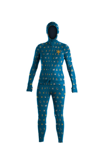 2022 Airblaster Womens Classic Ninja Suit in Teal Camp Print