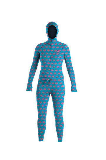 2022 Airblaster Womens Classic Ninja Suit in Turquoise Terry