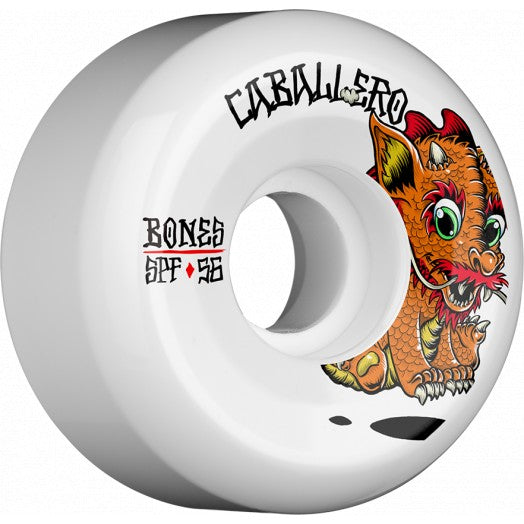 Bones Caballero Baby Dragon 56mm Skate Wheels in SPF P5