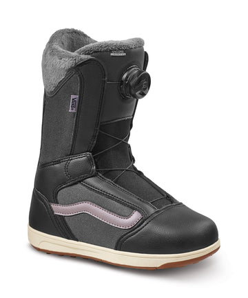 2022 Vans Encore Linerless Snowboard Boot in Black and Purple Dove
