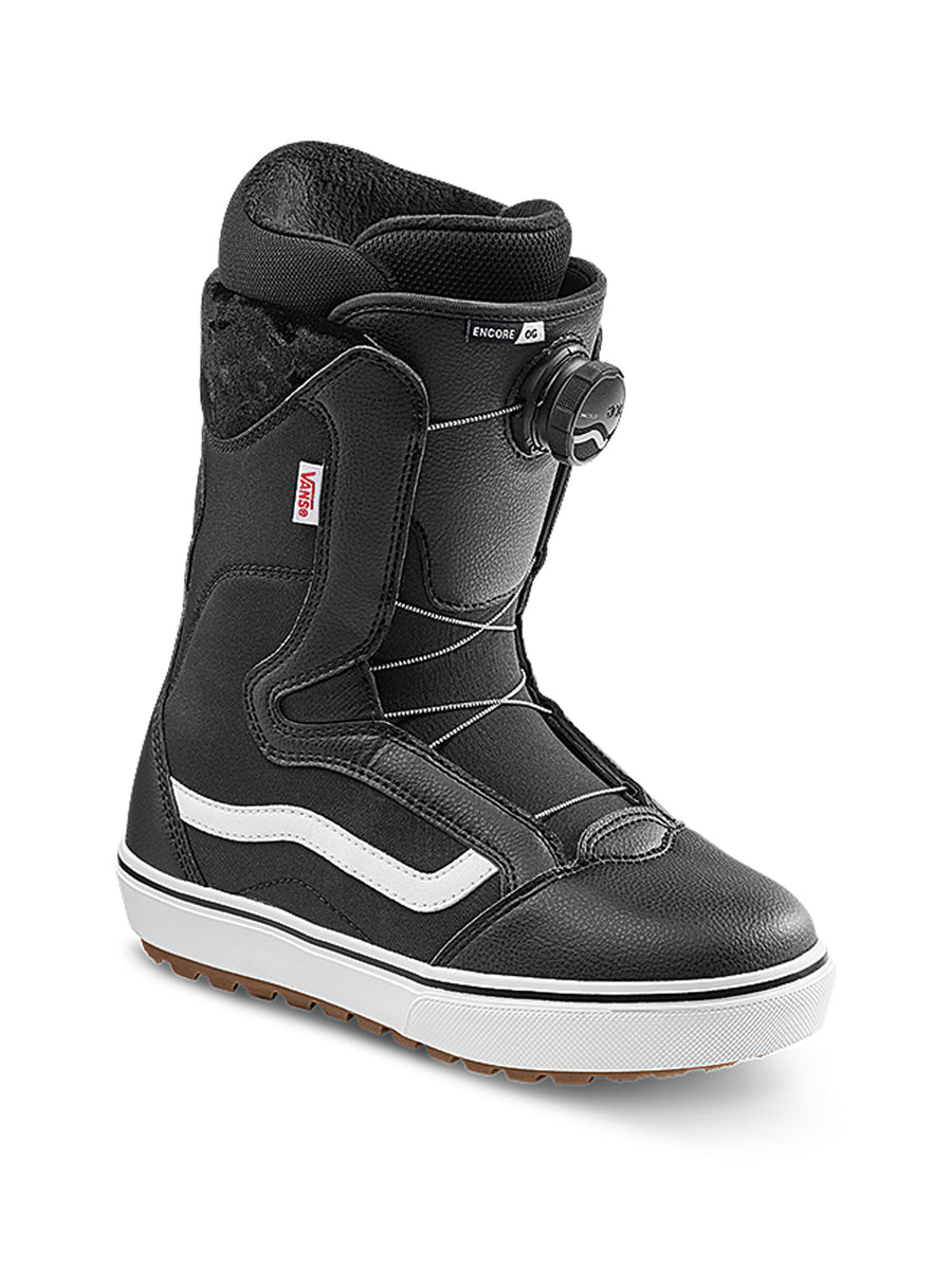 2021 Vans Encore OG Womens Snowboard Boot in Black and White
