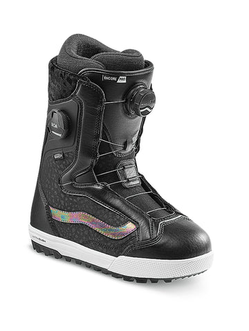 2021 Vans Encore Pro Womens Snowboard Boot in Black and Iridescent