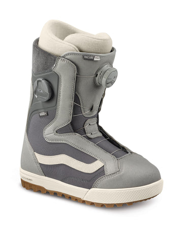 2022 Vans Encore Pro Snowboard Boot in Gray and Marshmallow