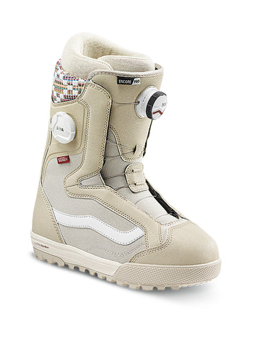 2021 Vans Encore Pro Womens Snowboard Boot in Oatmeal and Peyote White