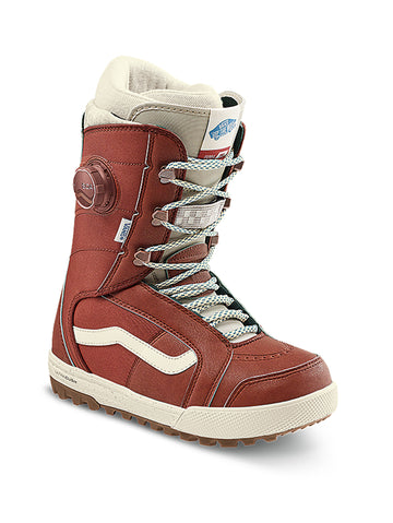 2021 Vans Ferra Pro Womens Snowboard Boot in Henna Red and Marshmallow