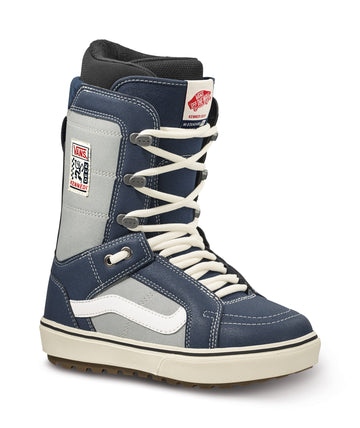 2022 Vans Hi-Standard Og Snowboard Boot in Navy and Marshmallow Kennedi Deck Color