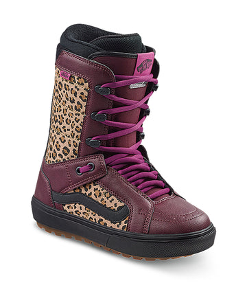 2021 Vans Hi-Standard OG Womens Snowboard Boot in Port Royale and Leopard