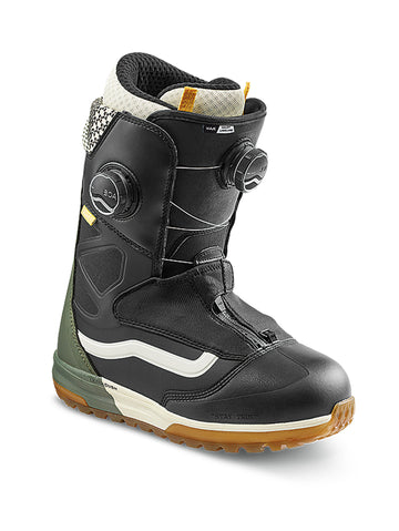 2021 Vans Viaje Womens Snowboard Boot in Black and Beetle Green (Haley Langland Pro Model)