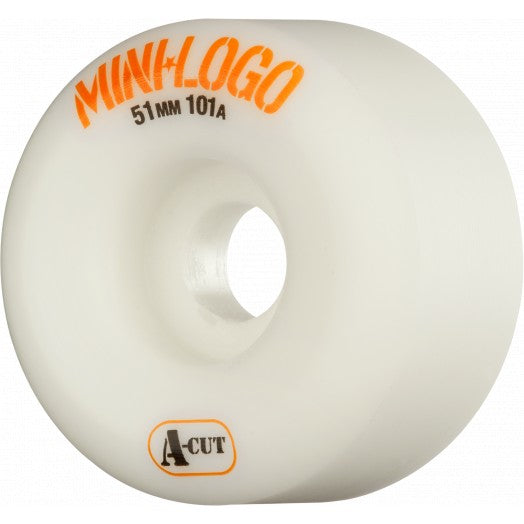 Mini Logo A Cut 51mm 101a Skate Wheel in White