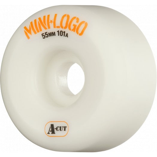 Mini Logo A Cut 55mm 101a Skate Wheel in White