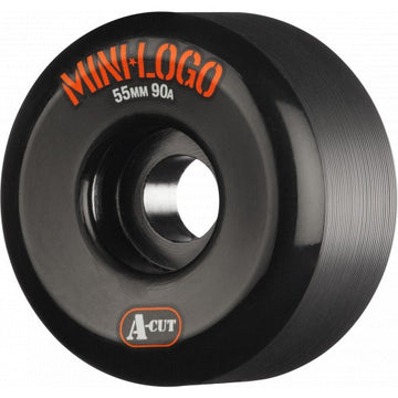 Mini Logo Hybrid A-Cut 55mm Skate Wheels in 90a Black