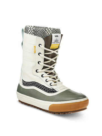 2021 Vans Standard MTE Snow Boot in Marshmallow White and Beetle Green (Hailey Langland Pro Model )