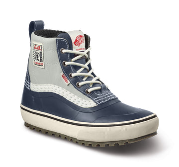 2022 Vans Standard Mid Snow Mte Boot in Navy and Marshmallow Kennedi Deck Color