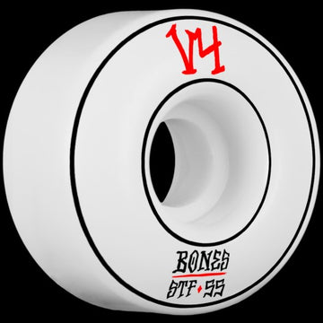 Bones Annuals 55mm Street Tech Skate Wheel in White