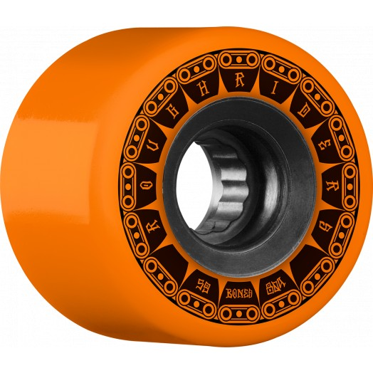 Bones Rough Riders Tank 59mm Skate Wheels in 80a All Terrain Formula Orange