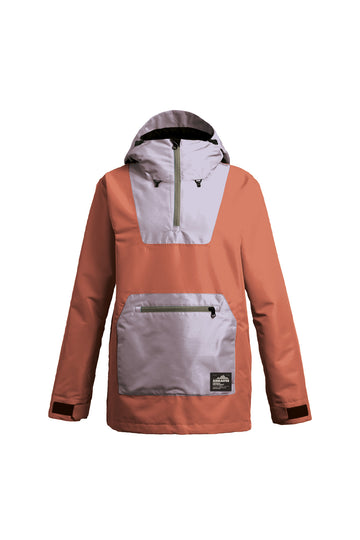 2022 Airblaster Womens Freedom Pullover Snow Jacket in Copper Lavender