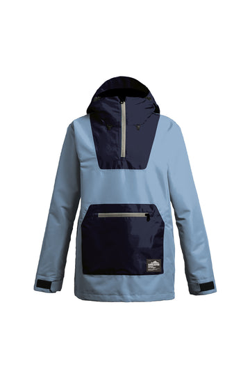2022 Airblaster Womens Freedom Pullover Snow Jacket in Navy Sky