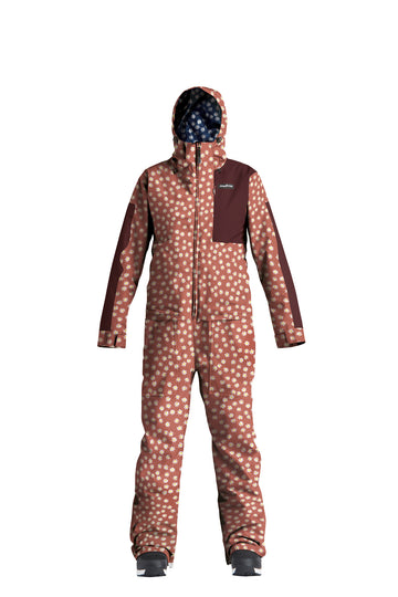 2022 Airblaster Womens Stretch Freedom Snow Suit in Rust Daisy