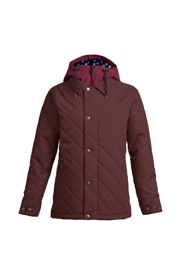 2022 Airblaster Womens Work Snow Jacket in Mahogany
