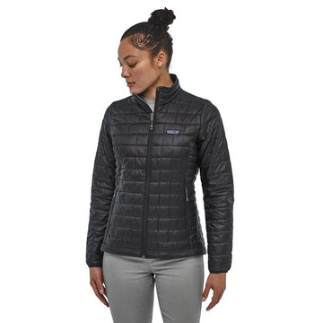 2020 Patagonia Womens Nano Puff Hoodless Snow Jacket in Black