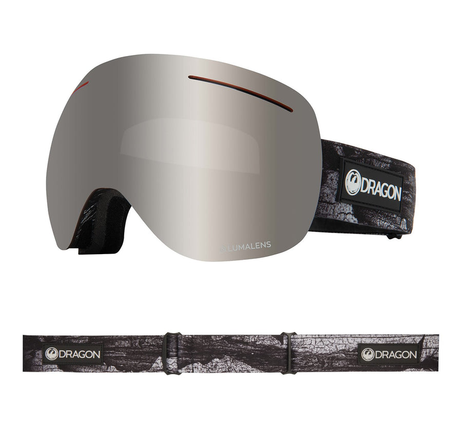 2020 Dragon X1 Snow Goggles in Torn Birch with LL Silver Ion and Flash Blue Lens