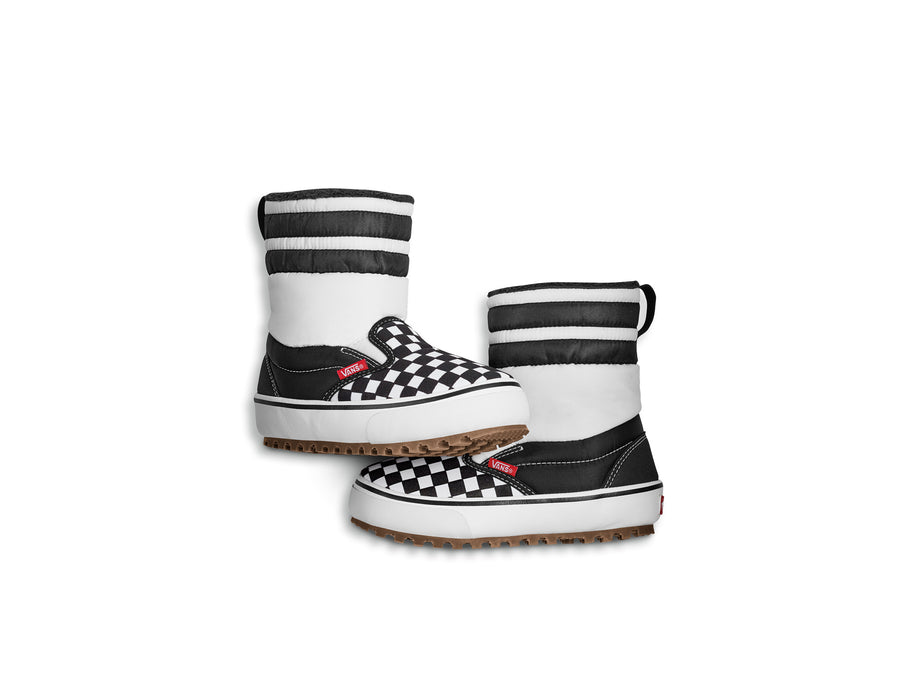 2021 Vans Youth Slip-On MTE Snow Boot in Checkerboard Black and White