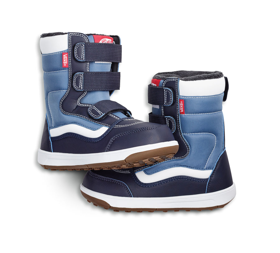 2021 Vans Youth Snow Cruiser V MTE Snow Boot in Navy and White
