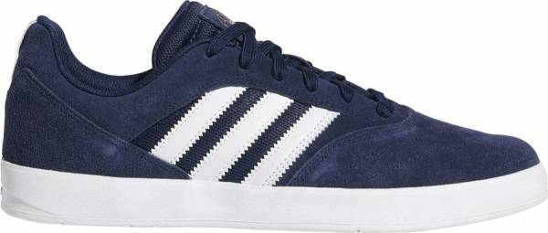 Adidas Suciu ADV II Skate Shoe in Navy, White, and Gold