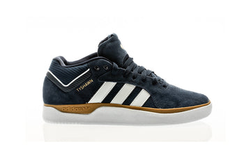 Adidas Tyshawn Skate Shoe in core black and footwear white and gum