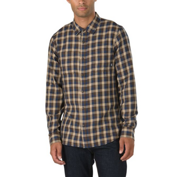 Vans Alameda II Flannel Shirt in Multicolor Black and Khaki