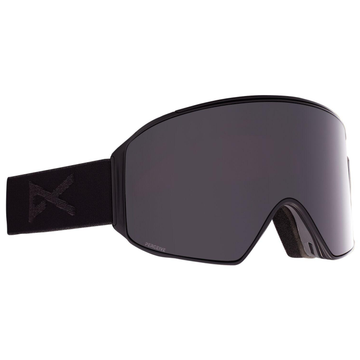 2021 Anon M4 Snow Goggle in Black with a Smoke Lens and a Perceive Sunny Onyx Bonus Lens and MFI Face Mask
