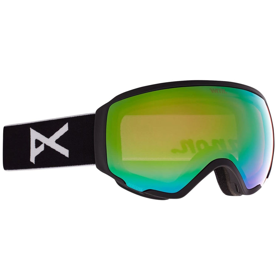 2021 Anon WM1 Snow Goggle in Black with a Perceive Variable Green Lens and Perceive Cloudy Pink Lens