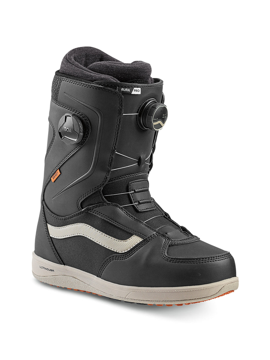 2020 Vans Aura Pro Mens Snowboard Boots in Black and Cashmere