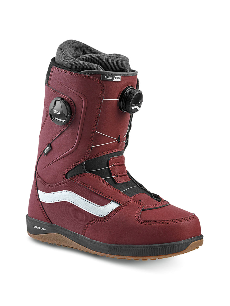 2020 Vans Aura Pro Mens Snowboard Boots in Burgundy and Black