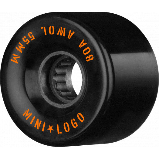 Mini Logo AWOL Skate Wheels 80a in Black 55mm