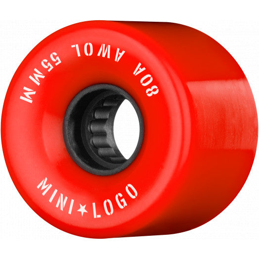Mini Logo AWOL Skate Wheels 80a in Red in 55mm